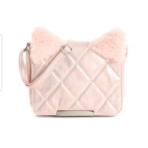 Girl's Quilted Cat Crossbody Purse